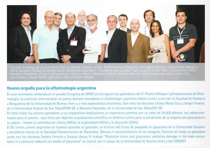 2º Premio Allergan Latinoamericano de Oftalmología