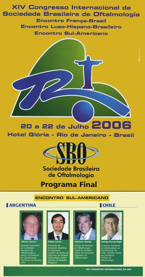 Congreso Internacional de la Sociedad Brasilera de Oftalmologia - Rio de Janeiro - Brasil