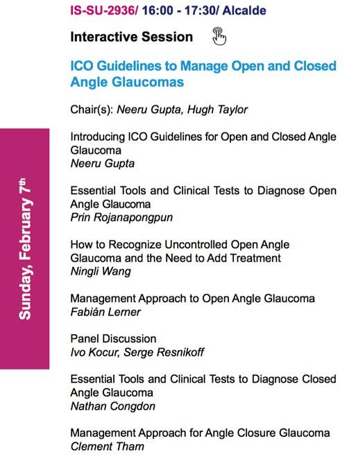 Congreso Mundial de Oftalmologia 2016 Disertante